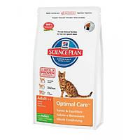 Hill`s Feline Adult Optimal Care кролик - 10кг