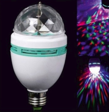 Светодиодная лампа Lemanso LED ДИСКО E27 RGB 3W 230V / LM337