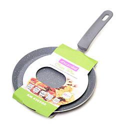 Блинная сковорода Ø22см из алюминия с антипригарным гранитным покрытием (индукция), блинная сковородка