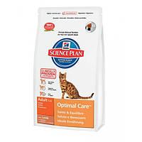 Hill`s Feline Adult Optimal Care (ягненок) -  10 кг