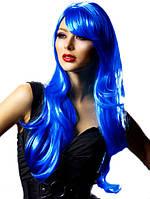 Парик из искусственных волос, синий