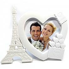 Красивая фоторамка для влюбленных Париж