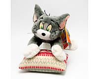 Мягкая игрушка озвученная Кот Том на подушке (30см) №29