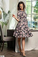Новинка! женское демисезонное платье в цветах размеры:42-58, фото 2