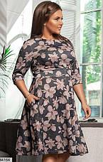 Новинка! женское демисезонное платье в цветах размеры:42-58, фото 3