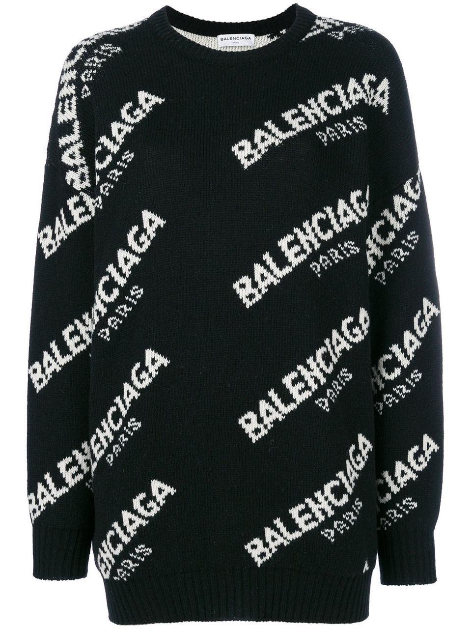 Свитер Balenciaga женский кашемир черный