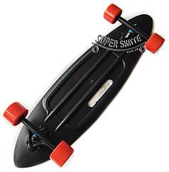 Лонгборд Black SHARK - пластиковый лонгборд черный