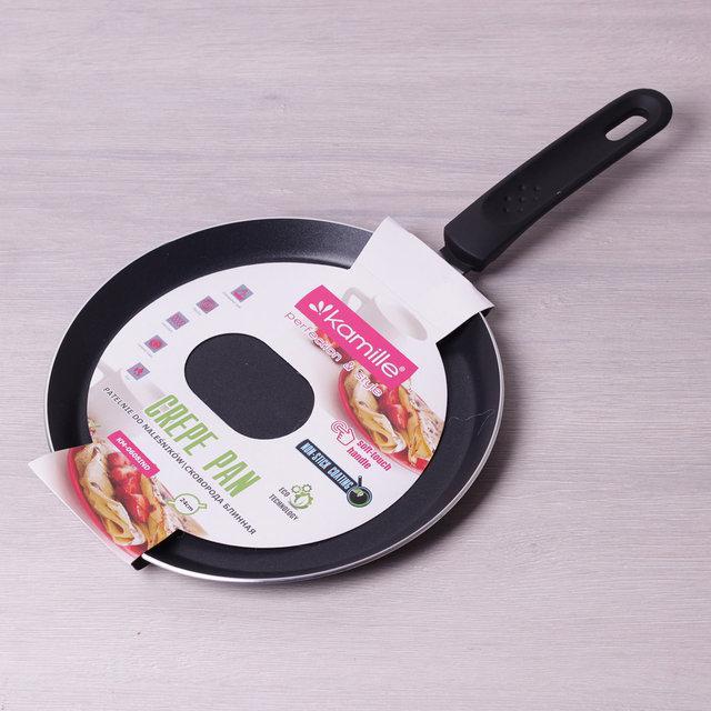 Блинная сковорода Ø24см из алюминия с антипригарным тефлоновым покрытием (индукция), блинная сковородка тефлон