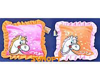 Мягкая игрушка подушка лошадка 28см №8560
