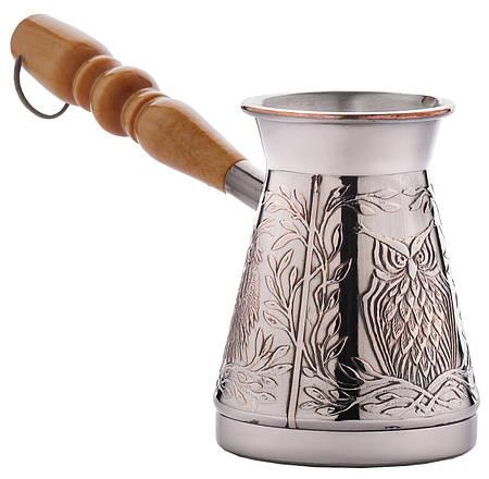 Медная турка для кофе  «Мудрая сова», 200мл. (448)