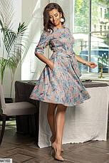 Новинка! женское демисезонное платье в цветах размеры:50-58, фото 3