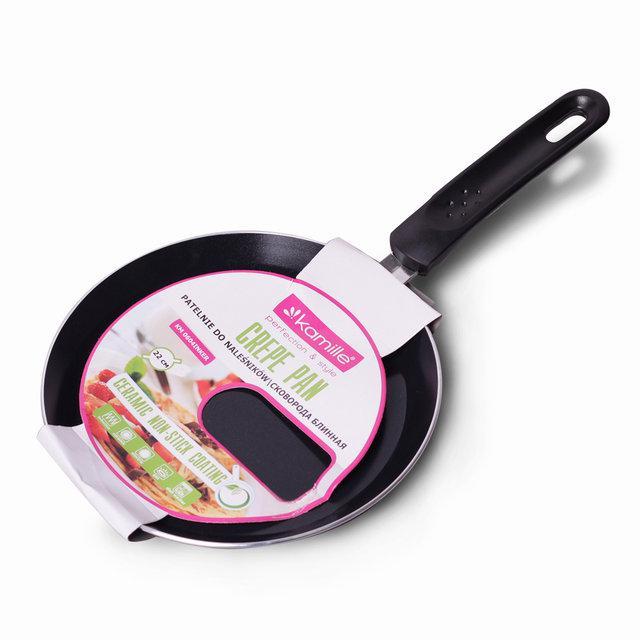 Сковорода блинная Ø22см из алюминия с черным керамическим покрытием, блинная сковородка 22 см