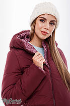 Теплая зимняя куртка бордовая для беременных зима серая 44-52, фото 3