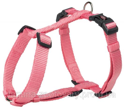Шлея стандарт Premium для собак нейлон M–L,  52–75см/20мм, фламинго