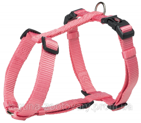 Шлея стандарт Premium для собак нейлон M–L,  52–75см/20мм, фламинго, фото 2