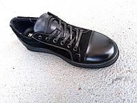 Кеды черные кожаные женские 36-41 р-р, фото 1