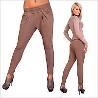 Деловые коричневые женские брюки