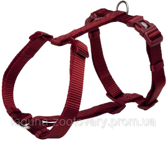 Шлея стандарт Premium для собак M–L, 50–75см /20мм,нейлон, винно-красная