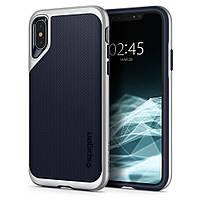 Чехол Spigen для iPhone XS/X Neo Hybrid, Satin Silver (063CS24920), фото 1