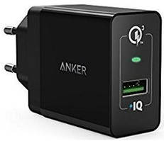 Зарядное устройство Anker PowerPort+ 18W 1xUSB With QC3.0 & PowerIQ Black