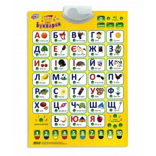 Плакат 7031 Букварик Play Smart украинский язык - Детский интернет-магазин