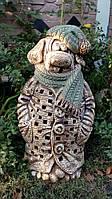 Фигура для сада Собака  в пальто