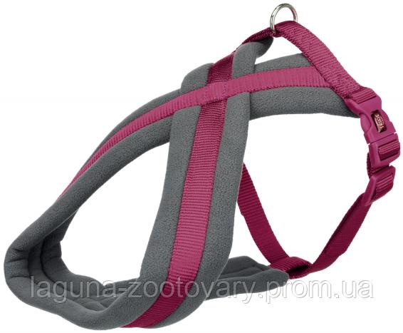 TX-202020 Шлейка Premium туристическая для собак, XS, 26–38см/10мм, ярко-розовая