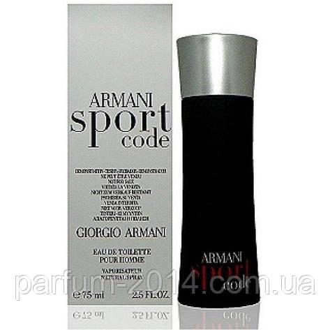 Мужская туалетная вода Armani Code Sport tester (реплика), фото 2