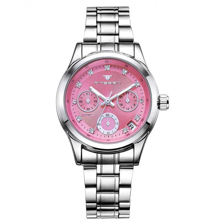 Часы женские механические Fngeen Classic Pink eps-2002