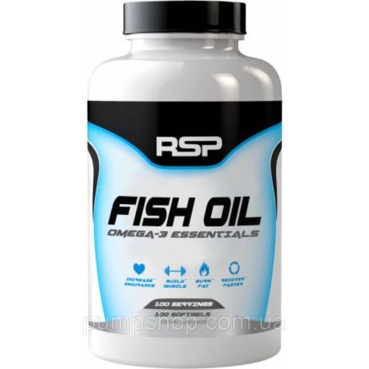 Омега-3 RSP Nutrition Fish Oil - 60 порц. (900 мл омеги-3 на капсулу)