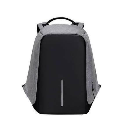 Мужской рюкзак BritBag Bobby антивор серый, фото 2