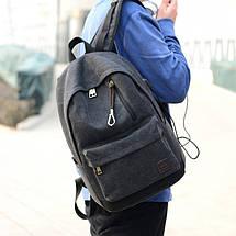 Мужской рюкзак Augur Deyizu черный, фото 3