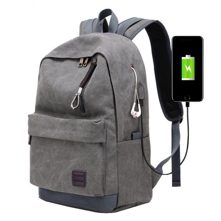 Мужской рюкзак Augur Deyizu серый eps-7013
