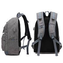 Мужской рюкзак Augur Deyizu серый eps-7013, фото 3
