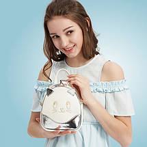 Женский мини рюкзак Kelly Сat серебряный eps-8043, фото 2