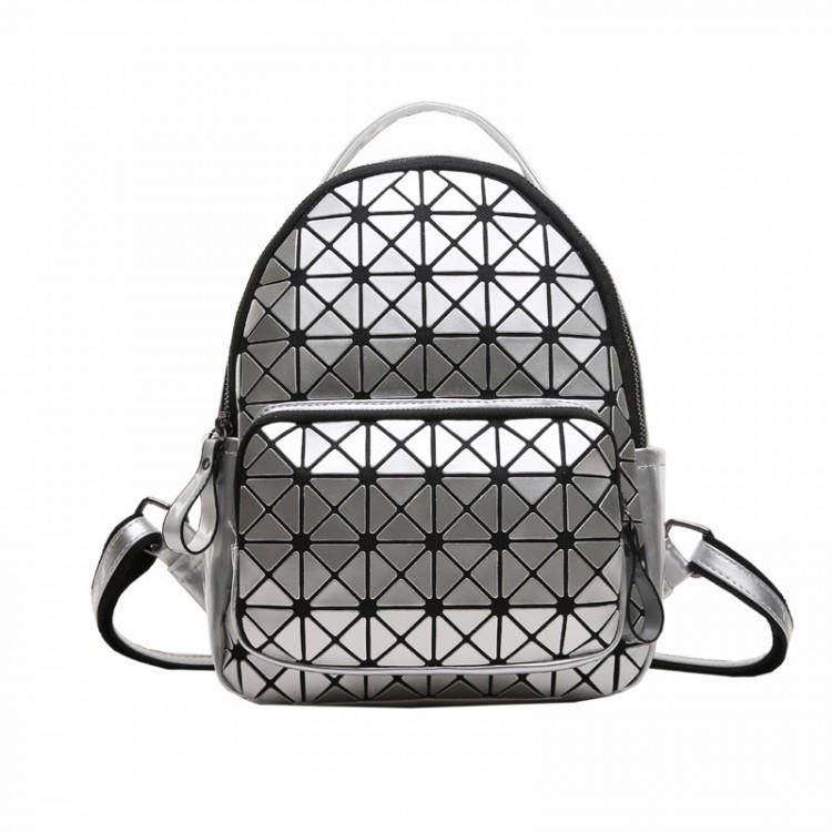 Рюкзак женский Crystal серебряный eps-8094