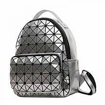 Рюкзак женский Crystal серебряный eps-8094, фото 3