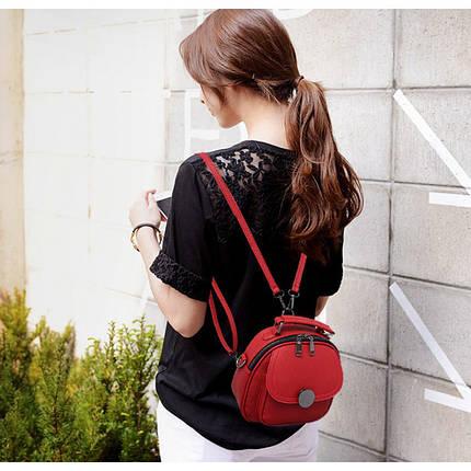 Рюкзак женский Jennyfer красный eps-8158, фото 2
