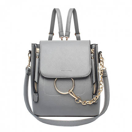 Рюкзак женский Amelie Ol серый, фото 2