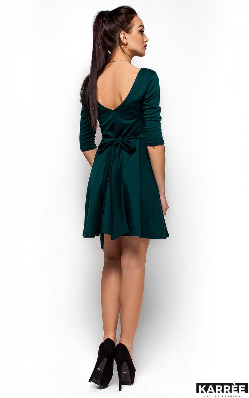 Платье с V-образным вырезом на спине Karree темно-зеленое