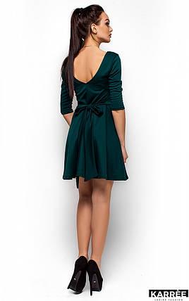 Платье с V-образным вырезом на спине Karree темно-зеленое, фото 2