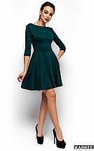 Платье с V-образным вырезом на спине Karree темно-зеленое, фото 3