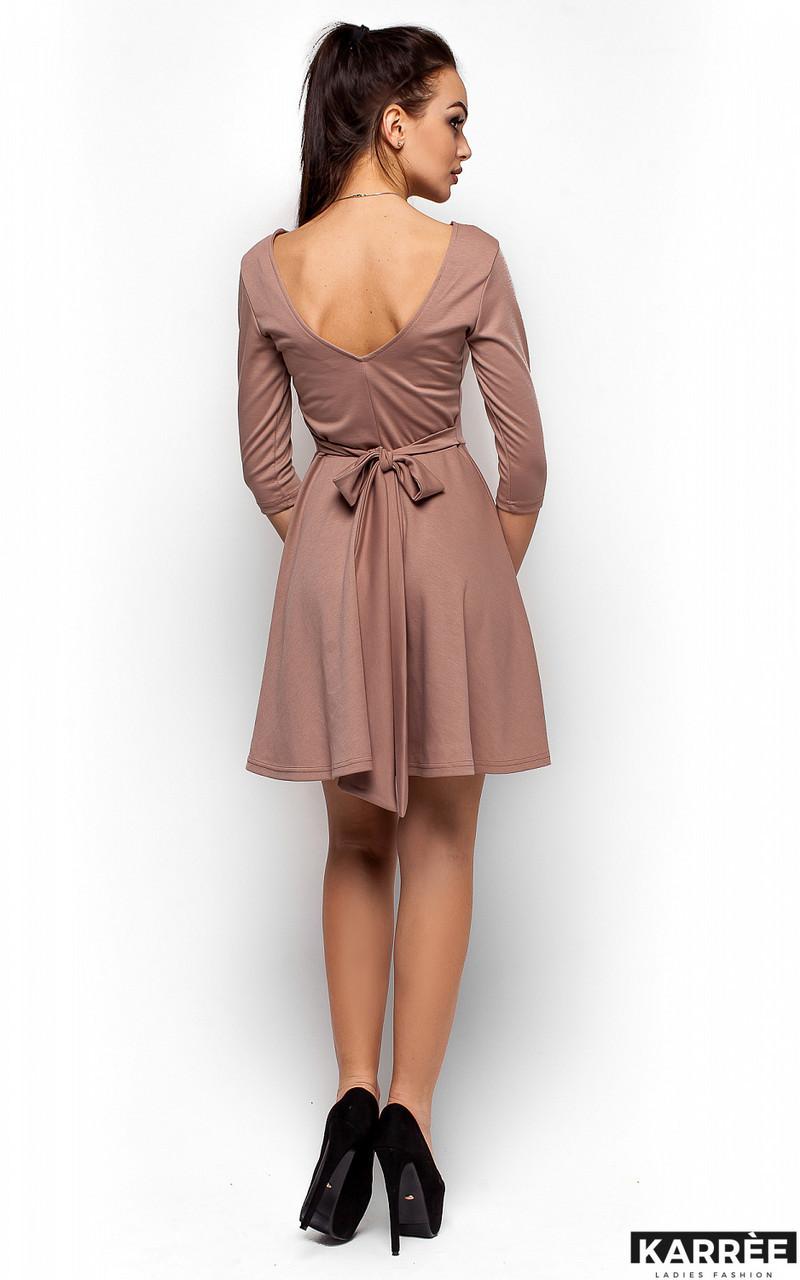 Платье с V-образным вырезом на спине Karree бежевое