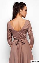 Платье с V-образным вырезом на спине Karree бежевое, фото 3