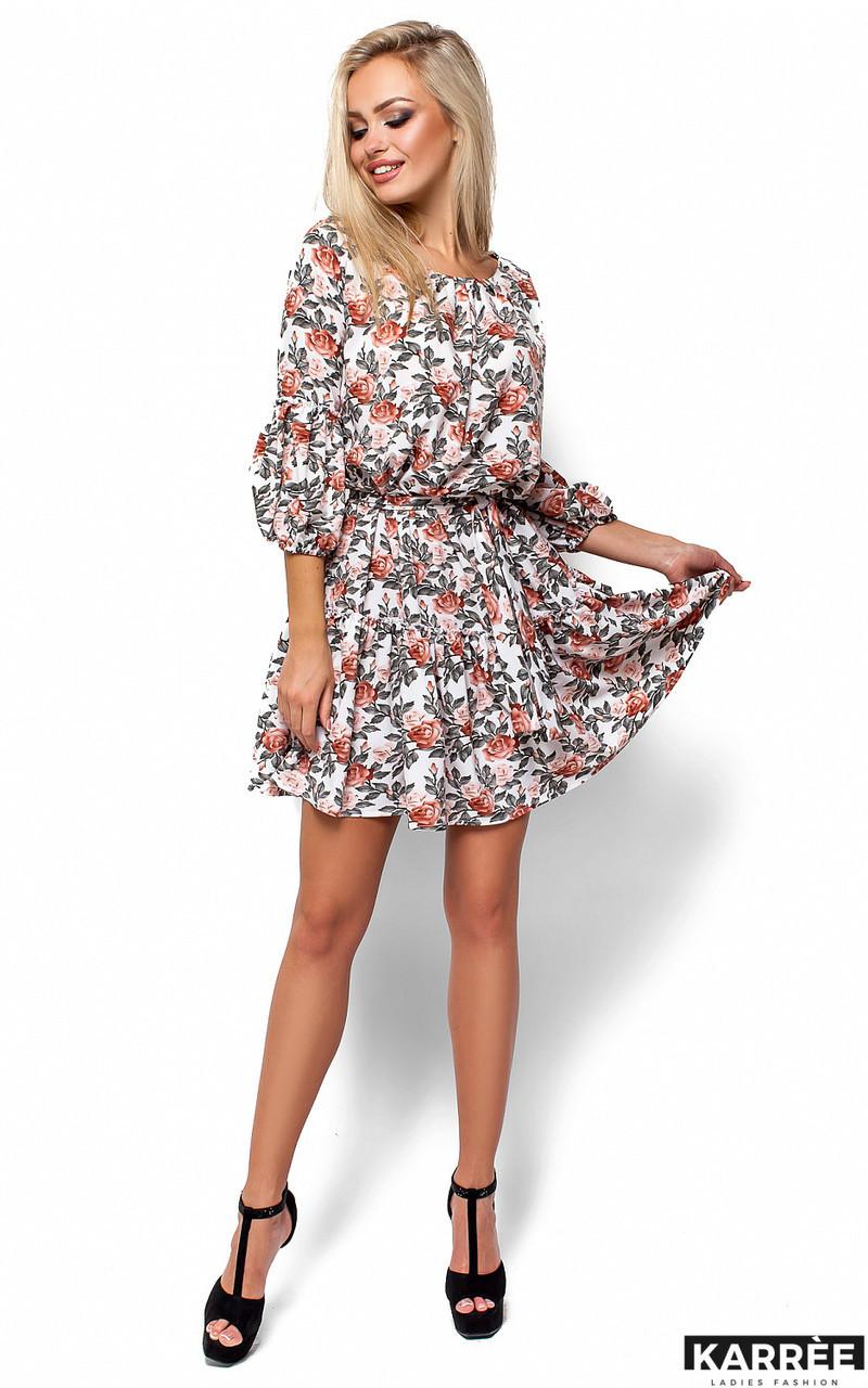Легкое летнее платье с цветочным принтом Karree Катрин молоко