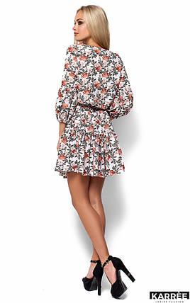Легкое летнее платье с цветочным принтом Karree Катрин молоко, фото 2