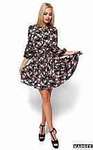 Легкое летнее платье с цветочным принтом Karree Катрин черное, фото 2