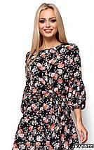 Легкое летнее платье с цветочным принтом Karree Катрин черное, фото 3