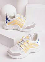 Кроссовки женские с утолщенной спортивной подошвой 27868, фото 1
