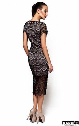 Приталенное платье из гипюра Karree Мелис черное, фото 2